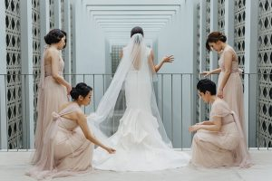 bridesmaids Como wedding